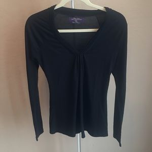 3/$30 Zara Black Long Sleeve T-Shirt Sz M